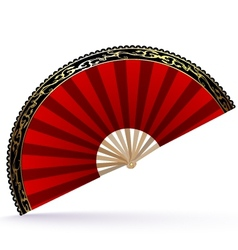 red-golden fan vector image