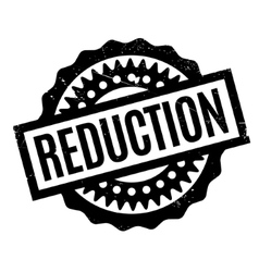 Reduction rubber stamp vector