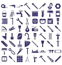 Repair tools icons on white vector