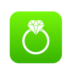 ring lgbt icon digital green vector image