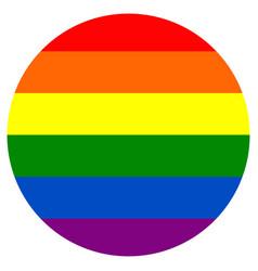 round rainbow flag movement lgbt flat icon symbol vector image