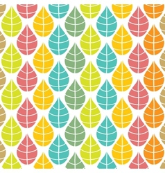 Seamless pattern with multicolored leaves vector image