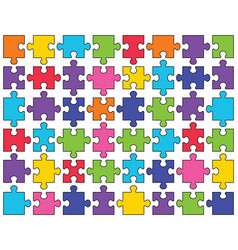 shiny puzzle separate parts vector image
