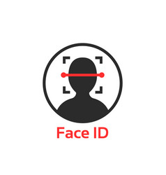 simple face id scanner icon vector image
