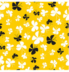 simple yellow butterfly seamless pattern vector image