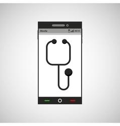 smartphone healthcare doctor app vector image