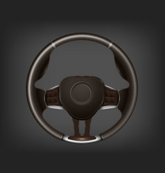 steering wheel detailed realistic vector image