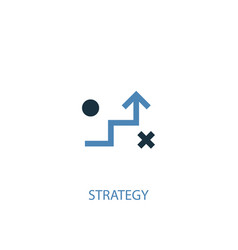 strategy concept 2 colored icon simple blue vector image