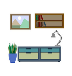 stylish furniture for living room colorful vector image vector image