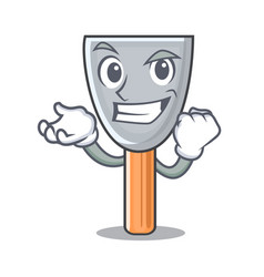 Successful character putty knife isolated vector