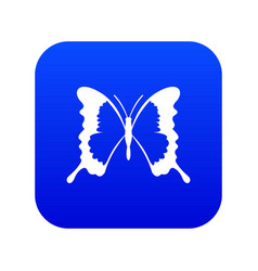 Swallowtail butterfly icon digital blue vector