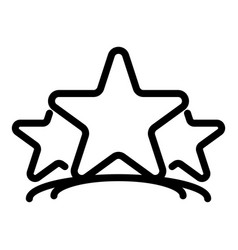 Three stars icon outline style vector