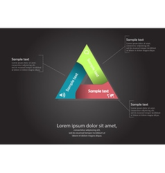 triangle motif infographic vector image