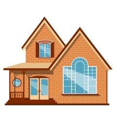 Unique house vector image