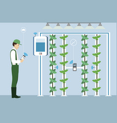 Vertical greenhouse gardens vector