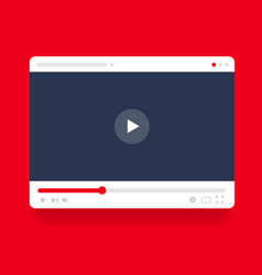 video player screen with play button concept vector image