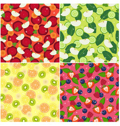 wallpaper design seamless pattern pieces of apple vector image