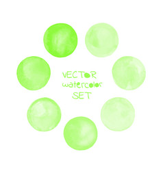 Watercolor green painted circle frame vector