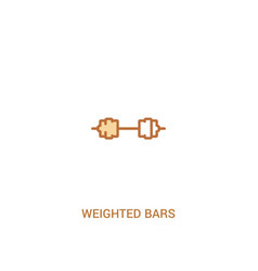 Weighted bars concept 2 colored icon simple line vector