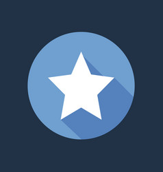 white star on blue circle isolated clean f vector image