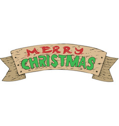 wooden christmas decor vector image