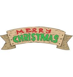 wooden christmas decor vector image