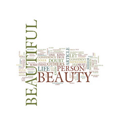You are beautiful text background word cloud vector