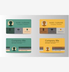 Colorful stylish business card template design vector