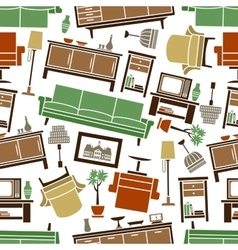 Cozy furnishing seamless pattern background vector image vector image
