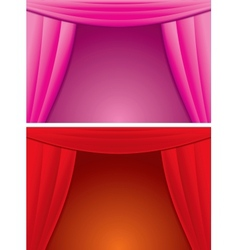 Elegance Red and Pink Curtain vector image