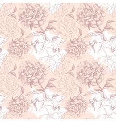 floral seamless pattern vector image vector image