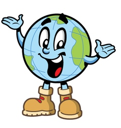 Happy Smiling Globe Character vector image vector image