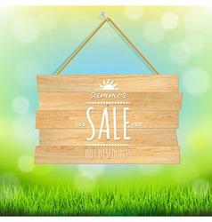 Sale Wooden Board vector image vector image