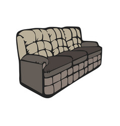 sofa furniture room couch interior design grey vector image