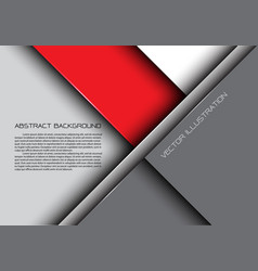 abstract red gray overlap design modern background vector image vector image