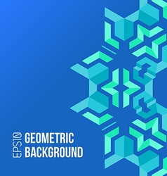 blue green asymmetric abstract geometric vector image vector image
