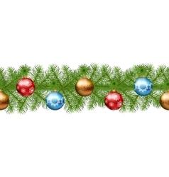 Christmas Seamless Garland vector image vector image