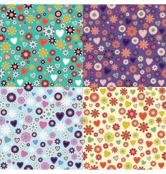 Floral Seamless Texture vector image