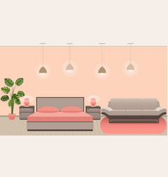 luxury hotel room interior with modern style vector image