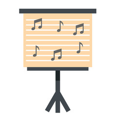 music stand with piano notes icon isolated vector image vector image