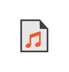 play list flat icon symbol premium quality vector image vector image