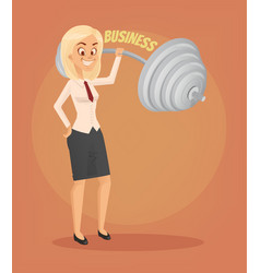 successful businesswoman office worker character vector image