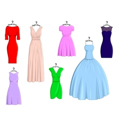 Types of dresses vector image