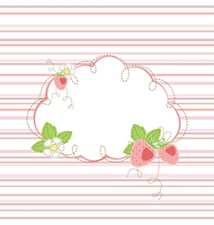 Baby shower with strawberry vector image