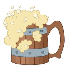 beer mug isolated vector image