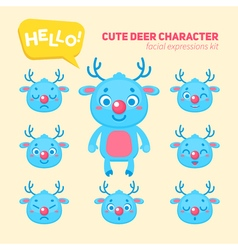 Christmas deer character construction kit vector image vector image