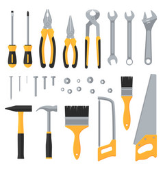 construction hardware industrial tools flat vector image