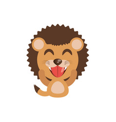cute lion animal character funny vector image vector image
