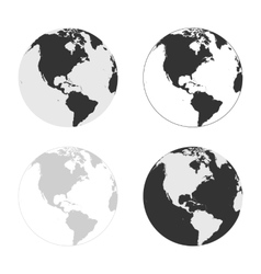 Earth icons set in different colors vector image
