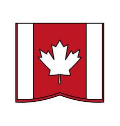 flag cartoon silhouette vector image